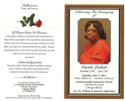 Carole Lockett Obituary