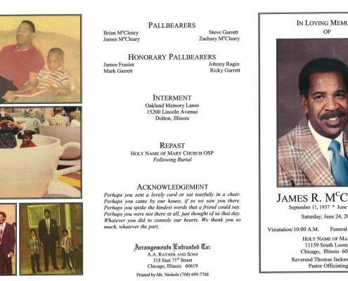 James R McCleary Obituary