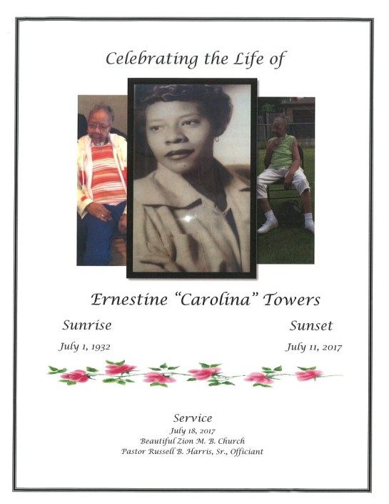 Ernestine Carolina Towers Obituary