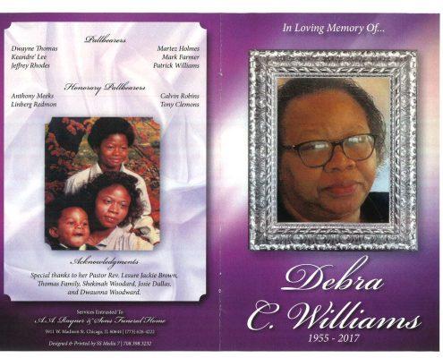 Debra C Williams Obituary
