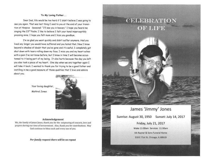 James Jimmy Jones Obituary