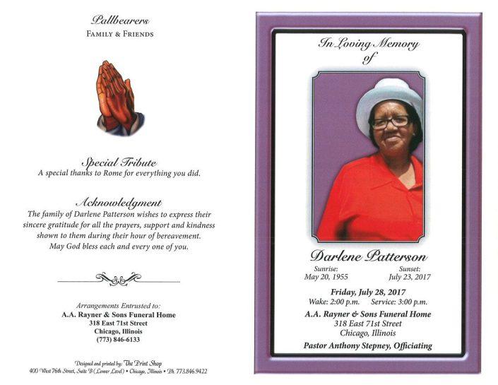 Darlene Patterson Obituary