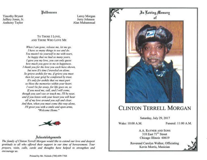 Clinton Terrell Morgan Obituary