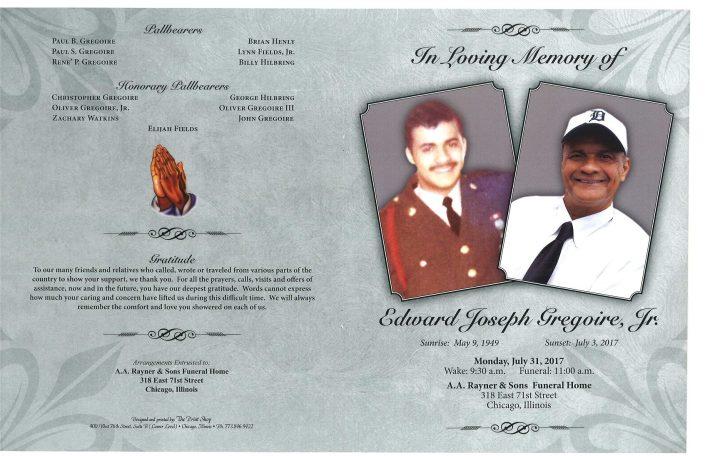 Edward Joseph Gregoire Jr Obituary