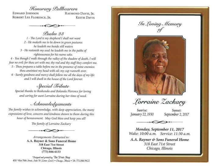 Lorraine Zackary Obituary