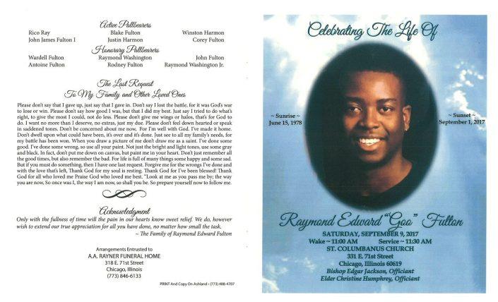 Raymond Edward Fulton Obituary
