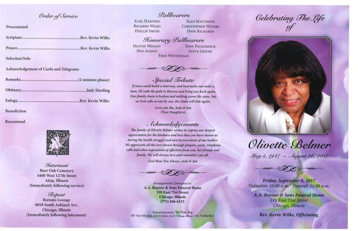 Olivette Belmer Obituary