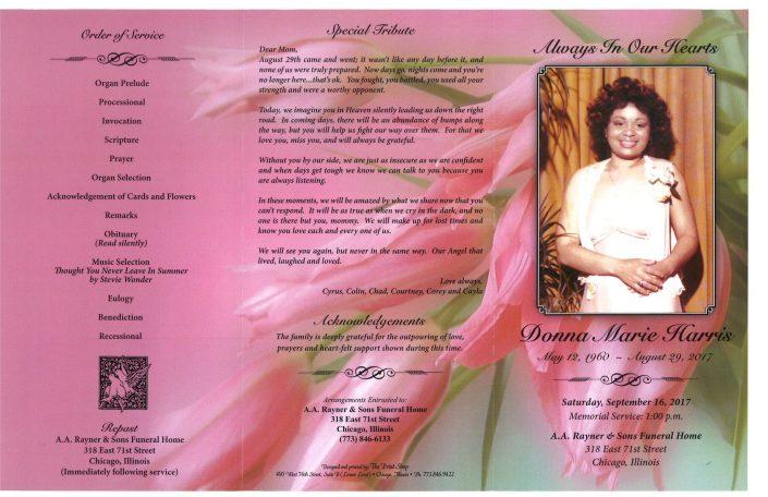 Donna Marie Harris Obituary