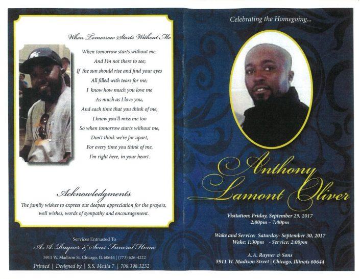 Anthony Lamont Oliver Obituary