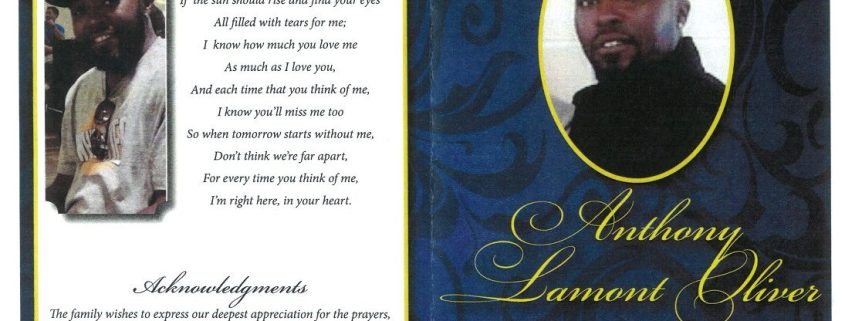 Anthony Lamont Oliver Obituary