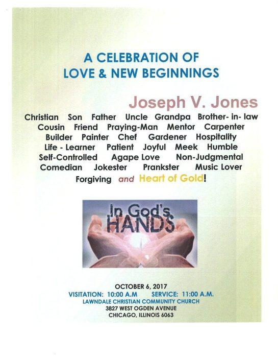 Joseph V Jones Obituary