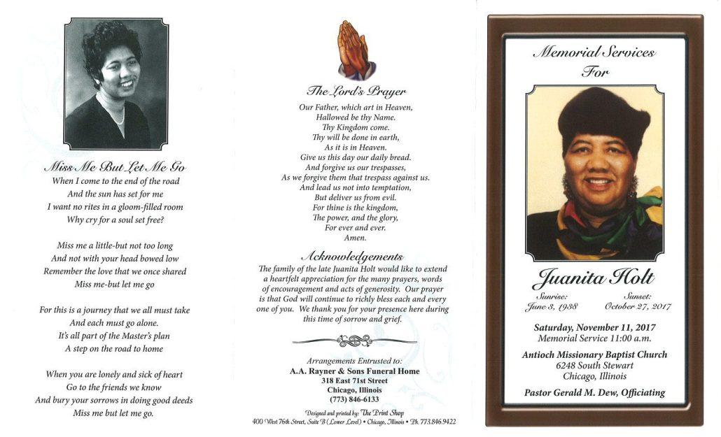Juanita Holt Obituary