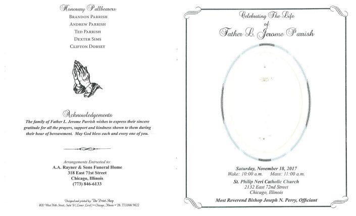 Father L Jerome Parrish Obituary