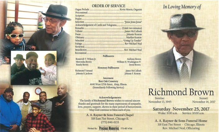 Richmond Brown Obituary