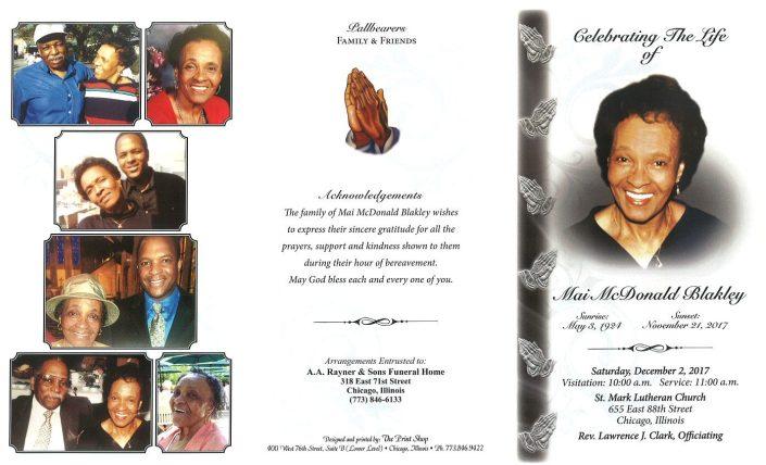 Mai McDonald Blakley Obituary