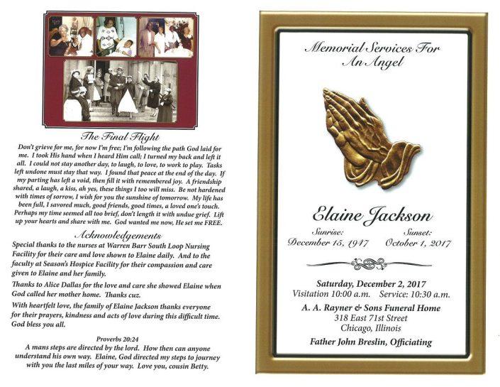Elaine Jackson Obituary
