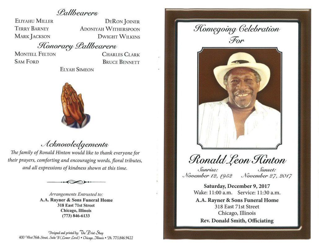 Ronald Leon Hinton Obituary