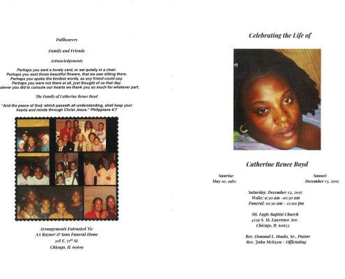 Catherine Renee Boyd Obituary
