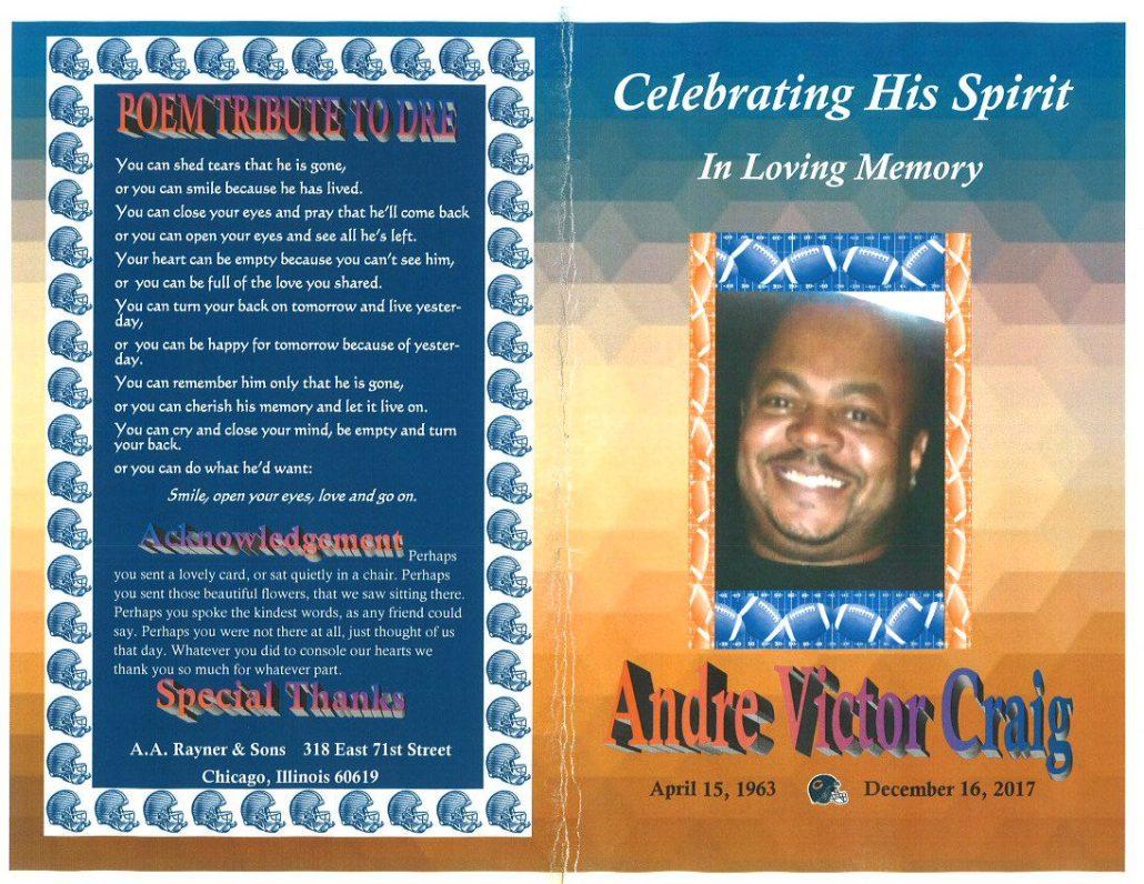 Andre Victor Craig Obituary