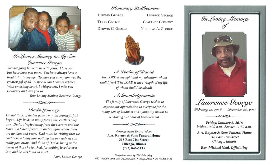 Lawrence George Obituary