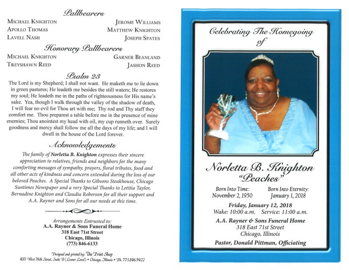 Norletta B Knighton Obituary