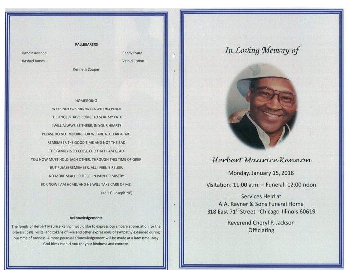 Herbert Maurice Kennon Obituary