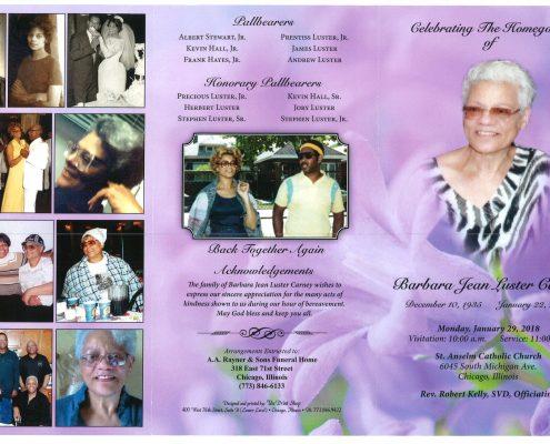 Barbara Jean Luster Carney Obituary