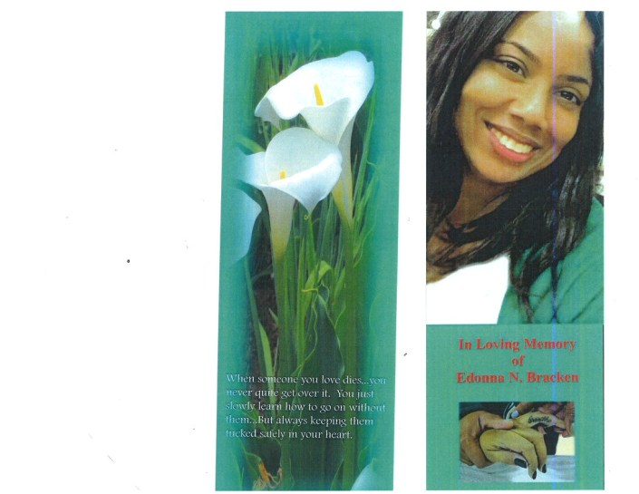 Edonna N Bracken Obituary