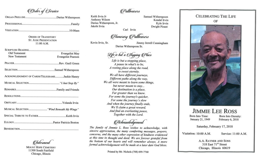 Jimmie Lee Ross Obituary
