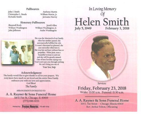 Helen Smith Obituary
