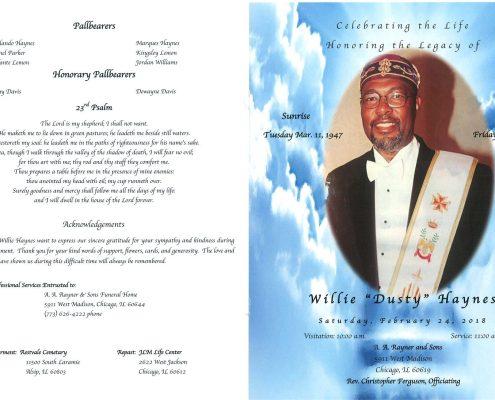 Willie Dusty Haynes Obituary