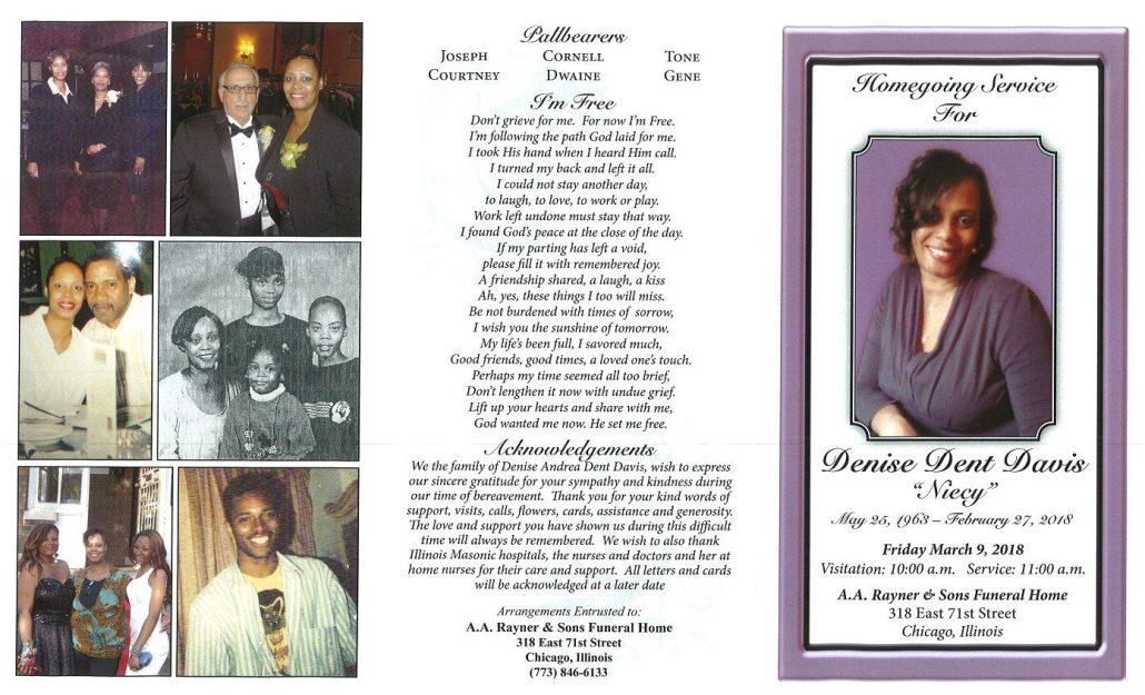 Denise Dent Davis Obituary