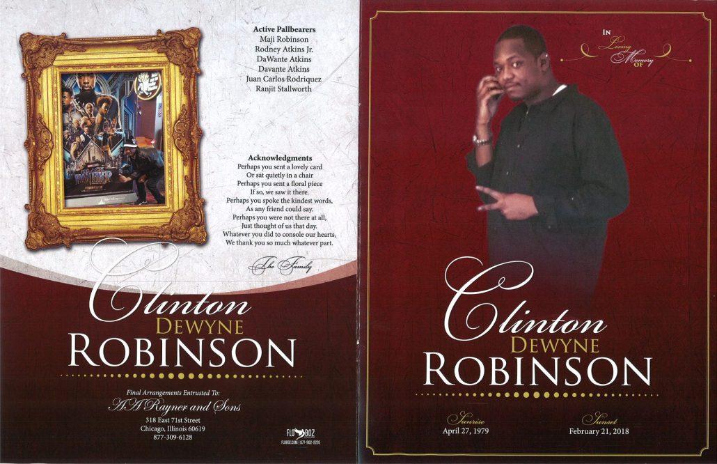 Clinton Dewyne Robinson Obituary
