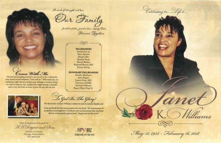 Janet K Williams obituary