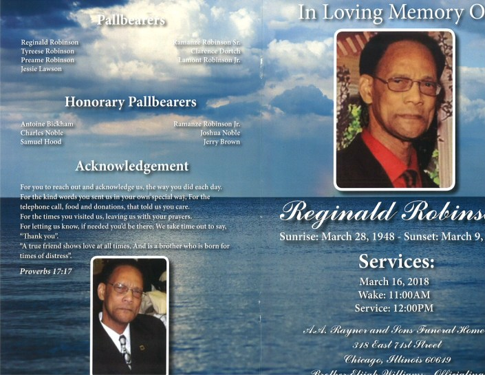 Reginald Robins Obituary