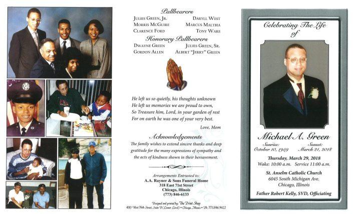 Michael A Green Obituary