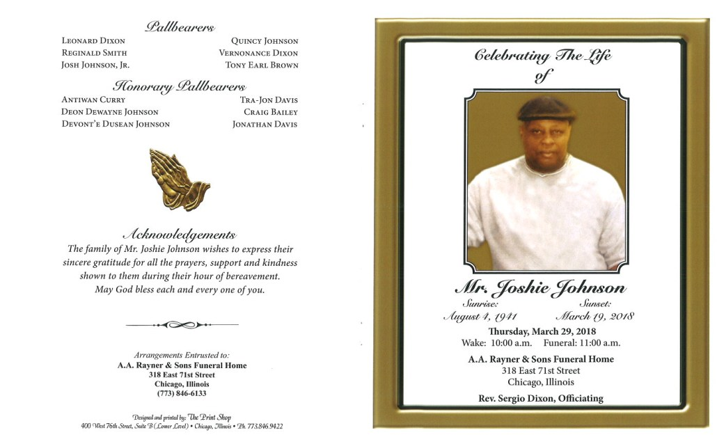 Mr Joshie Johnson Obituary