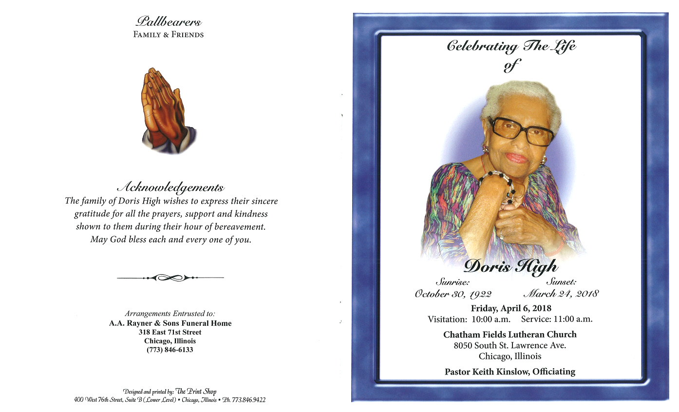 highs funeral home obituary