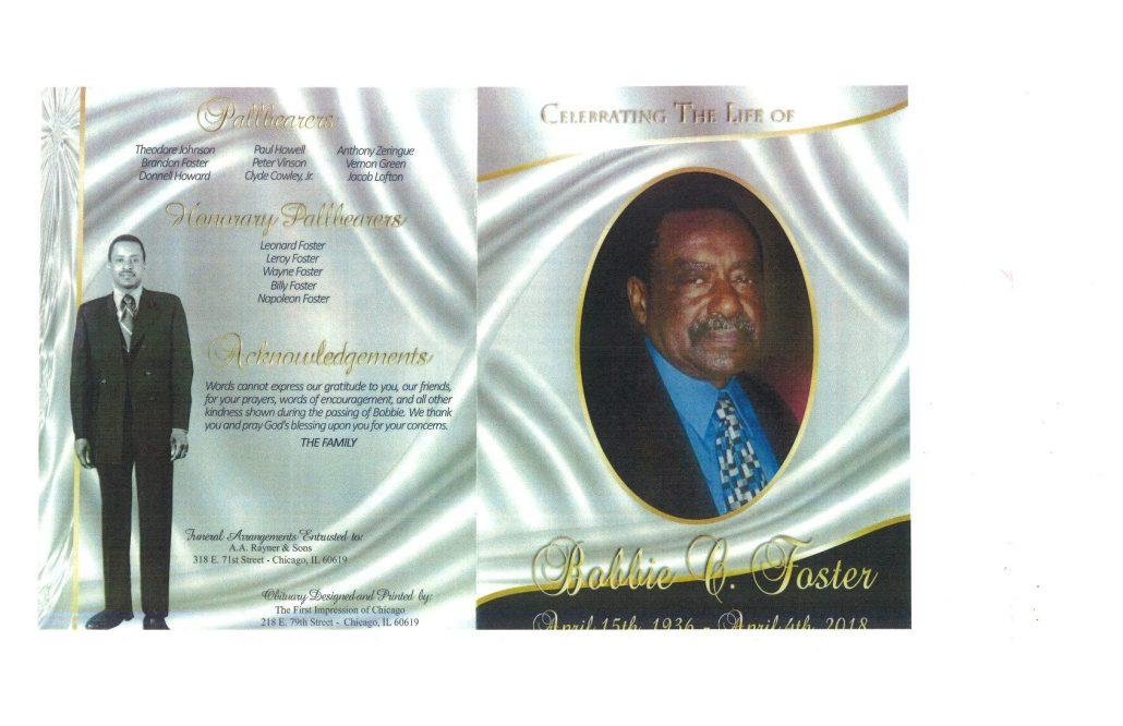Bobbie Foster Obituary