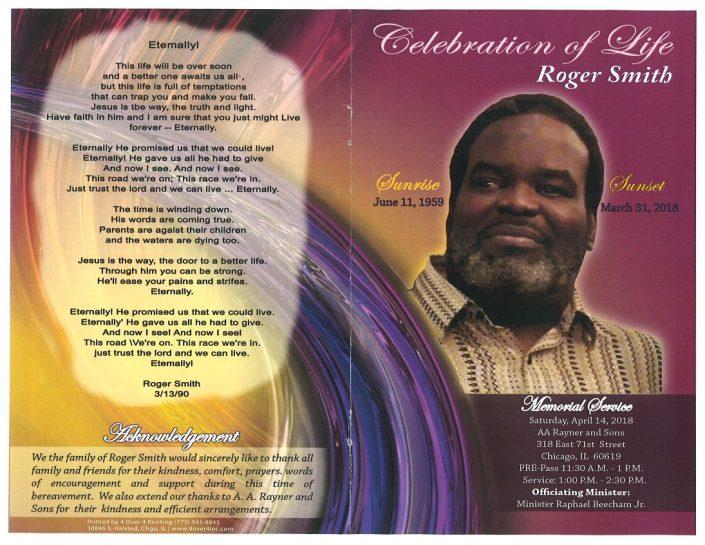 Roger Smith Obituary