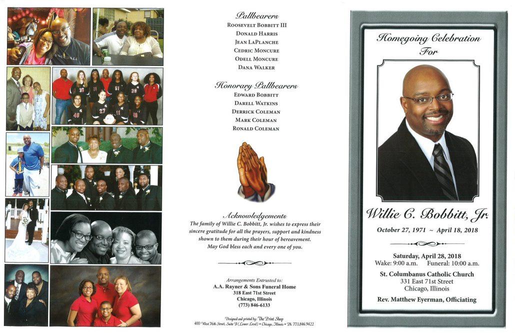 Willie C Bobbitt Jr Obituary