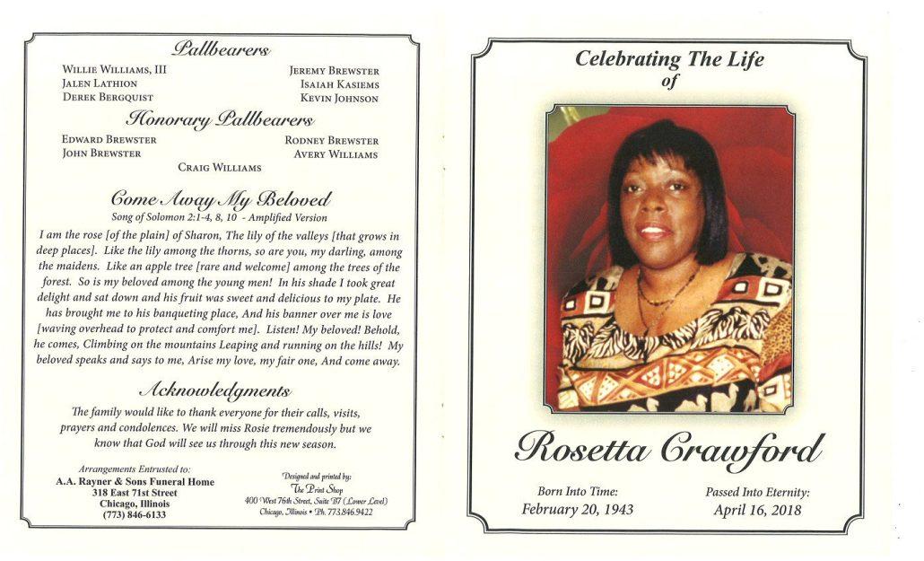 Rosetta Crawford Obituary