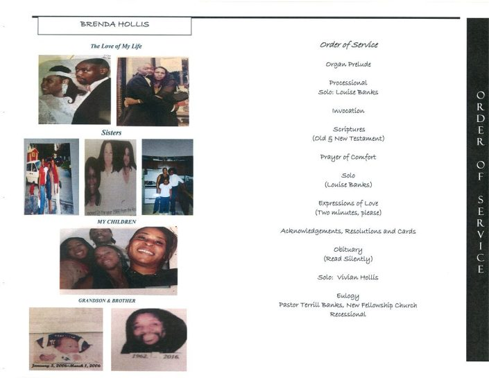 Brenda Hollis Obituary