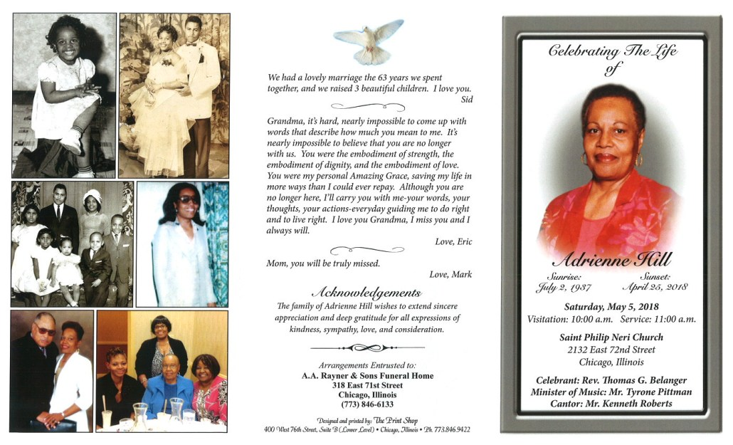 Adrienne Hill Obituary