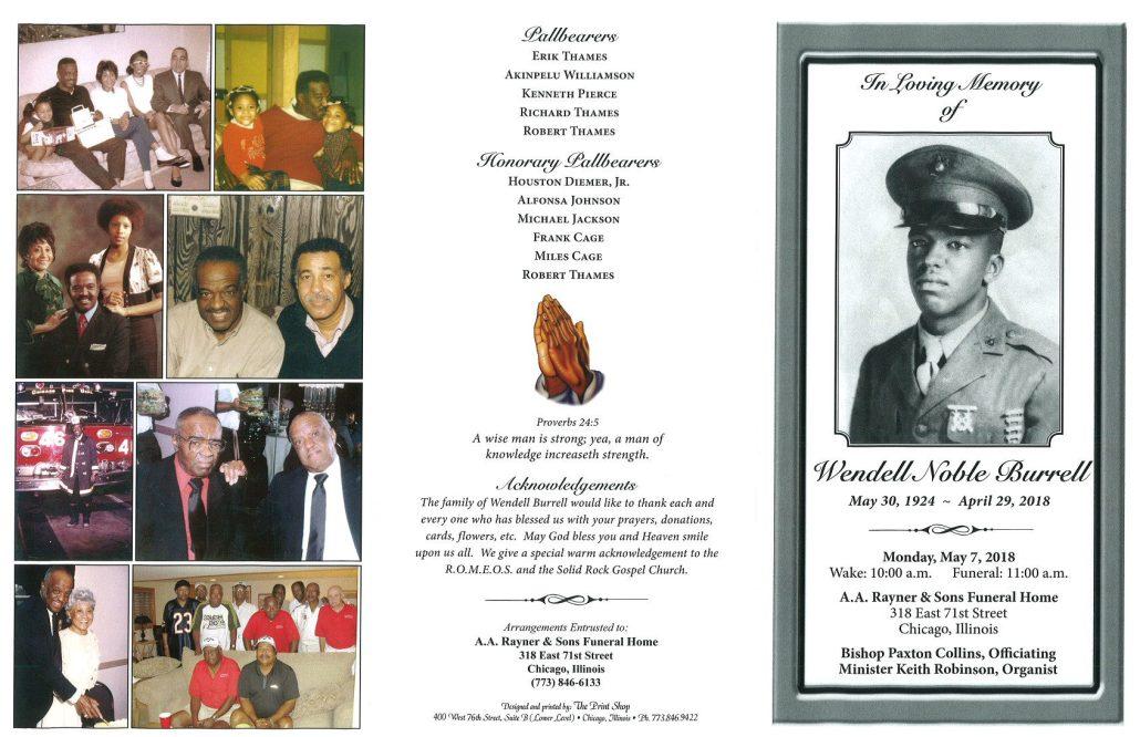 Wendell Noble Burrell Obituary