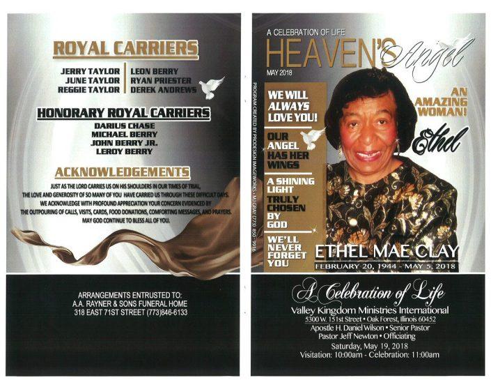 Ethel mae Clay Obituary