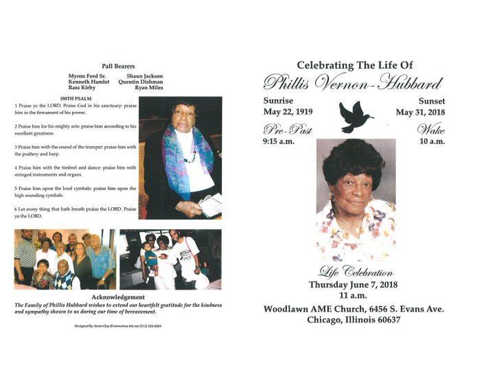 Phillis Vernon Hubbard Obituary