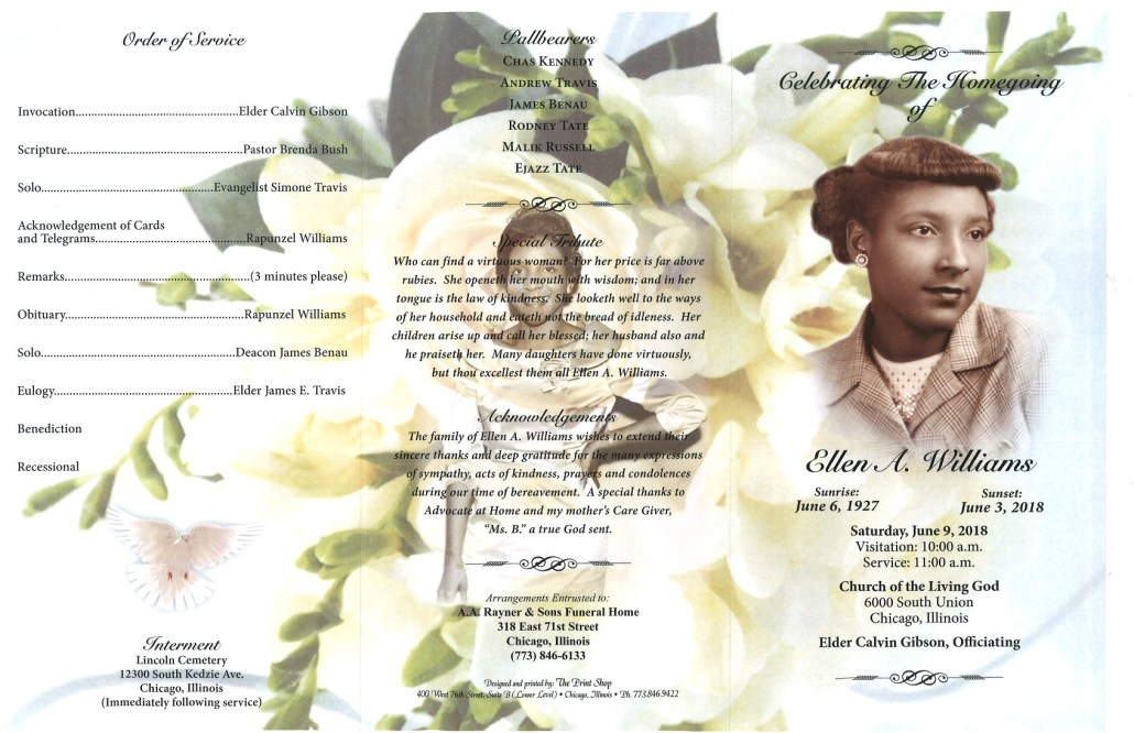 Ellen A Williams Obituary