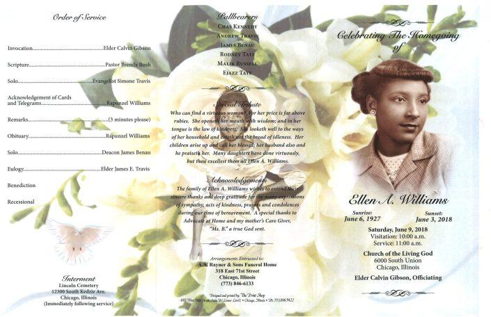 Ellen A Williams Obituary
