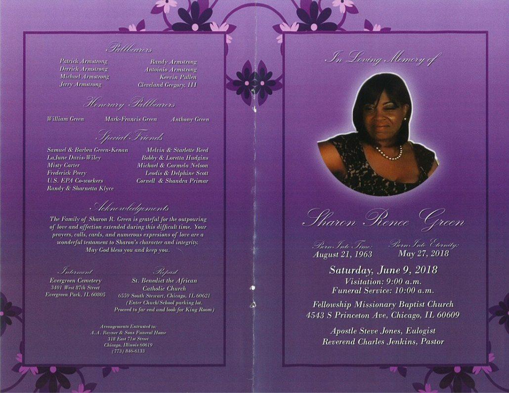 Sharon Renee Green Obituary